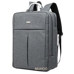 Серый нейлон компьютер рюкзак сумка для ноутбука для поездок