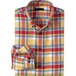 Camicia lunga della flanella del manicotto di misura tradizionale degli uomini (WXM260)