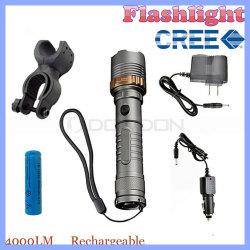 Faire un zoom sur T6 en mode 4000lm 5 CREE LED lampe de poche de Self Défense