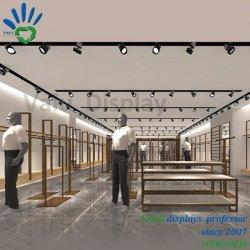 Venta directa de fábrica pedestales de pantalla tienda de ropa de diseño de interiores