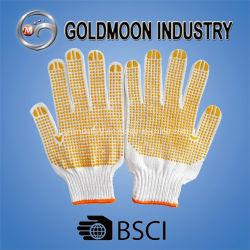 Calibre 10 Gant de travail de la sécurité tricotés avec Mouchetures en PVC