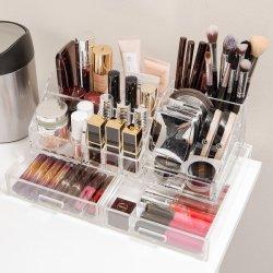 Maquillage cosmétique acrylique tiroirs de rangement de l'organiseur et de bijoux Boîte d'affichage