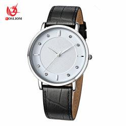 人の腕時計の簡単で優雅なギフトのダイヤモンドの表面は安く#V652を見る