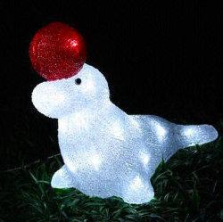옥외 크리스마스 휴일 훈장 LED 태양 물개 주제 아크릴 빛