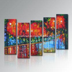 Rua da paisagem moderna decorativa Scence Galpão de pintura a óleo (LA5-086)