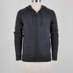 Шерсть смесь Zip up худи свитер для мужчин