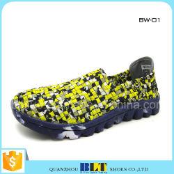 Дешевые женщин дамы красочные тканого обувь