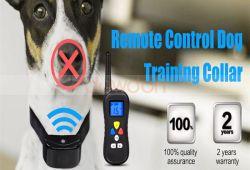 LCD表示が付いている電子ドッグカラーのリモート・コントロール反吠え声犬の衝撃のトレーニングカラー