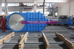 Dn1800 전기 액추에이터를 가진 연성이 있는 철 칼 게이트 밸브