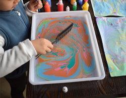 Los niños juguetes arte innovador para la Educación veteado de agua de regalo Set de pintura