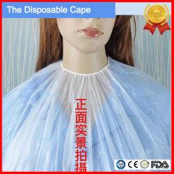Hair Beauty Salon Polyethylene Cape ApronのPlasticの使い捨て可能なPE Barber Cape /Apron/Bib