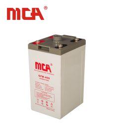 100% de plomo puro 2V 400Ah batería VRLA con 3 años de garantía