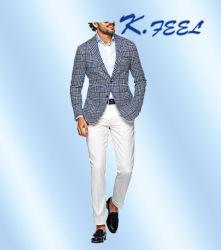 2016 paste de Nieuwe Blauwe Controle van de Manier het Jasje van het Kostuum voor Mensen