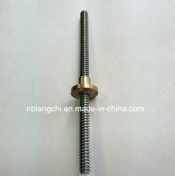 一定の台形鉛のねじおよび青銅はナットTr8X4 (p2)フランジを付けたようになった