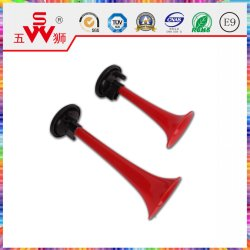Corne de l'air rouge classique klaxon électrique