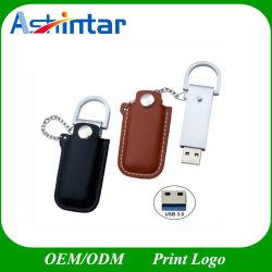 메탈 USB 스틱 플래시 메모리 펜 드라이브 사용자 지정 USB3.0 가죽 USB 플래시 드라이브