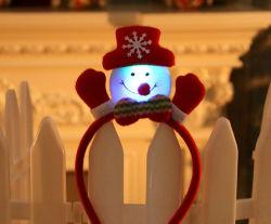 おかしい党アクセサリのクリスマスのギフトLEDの点滅のヘッドバンドはクリスマスの休日の装飾のための毛バンドをつける