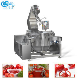 中国の工場価格のステンレス鋼の産業電気唐辛子のカラメルソースおよびJacketedやかんが付いている装置を調理するミキサー機械を調理する豆ののり