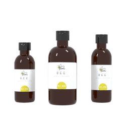 2020-2021 Hot Sale 250ml 400ml Shampoing bouteille Pet ambre clair/Cosmetic flacon avec bouchon noir/pompe