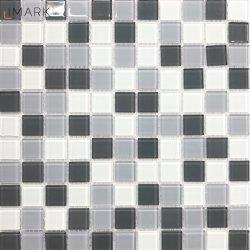 Дешевые цены Crystal стеклянной мозаики в ванной комнате Backsplash плитки на стене прикладное искусство