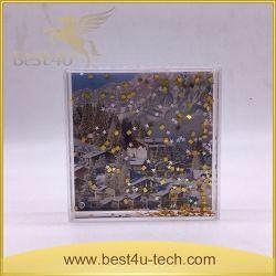 Liquide acrylique carré Aqua Cadre photo avec l'étoile Bling flottant
