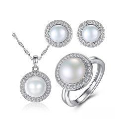 Bijoux en perles de vente chaude 925 Bijoux en argent avec AAA CZ
