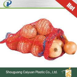 Produits de l'agriculture PE PP non tissé laminé Leno sac filet tubulaire légumes PP Blanchisserie Shopping du filtre à mailles de stockage de sac de riz à l'oignon avec Net des emballages en plastique