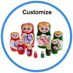 Artesanato em madeira personalizadas Matryoshka artesanais Jantes Kimono fantoches bonecos de nesting