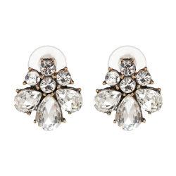Venda por grosso de 2018 Mulheres Design Superior Jóias de ligas de cobre acessórios brincos de cristal de flores