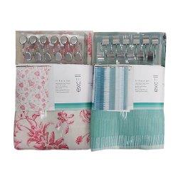 Fabricante Texpro 2021novos conjuntos de cortina de chuveiro com tapetes e toalhas, incluem tapetes Non-Slip, Tampa de banho, toalha de banho e Mat