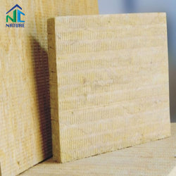 50-180kg/m3 a lã de rocha/Placa de isolamento de lã/lã mineral Board com fio de aço, malha leve à prova de lã de bordo 80kg/m3 50mm
