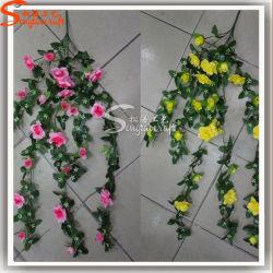 Flores artificiais para Decoração de parede de videira