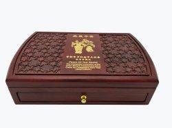 맞춤형 솔리드 우드 기념물 포장 코인 박스