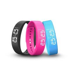 Armbandintelligenter Wristband-Sports intelligente Band-Kalorie LED-Digital Pedometer-Kind-Frauen-Mann-Armbandwristband-Geschenk