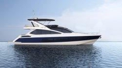 Hq 66.6FT de haute qualité Bateau de vitesse de moteur Diesel PRF yacht privé de luxe en fibre de verre pour 12 personnes