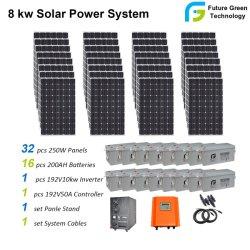 Venta al por mayor de 8 kw de energía solar renovable de energía solar el Sistema de alimentación para el Hogar Productos Solares