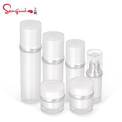 Elegante de alta qualidade 30ml 50ml 80ml 100ml Embalagem de cosméticos vaso de cosméticos da garrafa plástica vaso de loção para embalagem de cosméticos