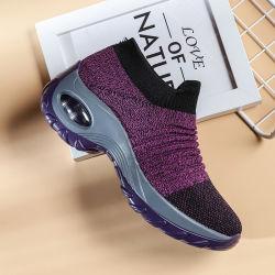 Venda a quente mulheres Flyknit Calçado de desporto Tênis Casual Sapatas de tricotar tênis