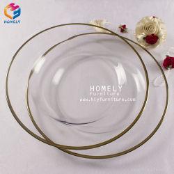 Cheap Wholesale Wedding Or Argent Perles de verre les plaques de chargeur
