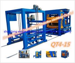 직업적인 건축 빌딩 블록 기계 Qt4-15 시멘트 벽돌 만들기 기계 콘크리트