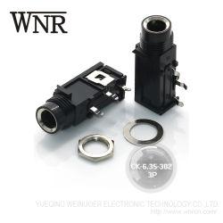 6.35mm 3つのPinのヘッドホーンジャックCk6.35 302電気ジャック