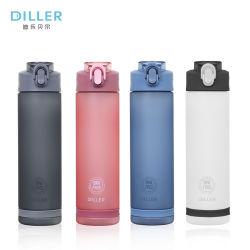 Kundenspezifischer Firmenzeichen-Großverkauf PlastikTritan Sport-Wasser-Flasche mit Stroh