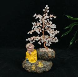 100% натуральные ручной работы закрывается Quartz Adventurine Citrine дерево драгоценных камней украшения