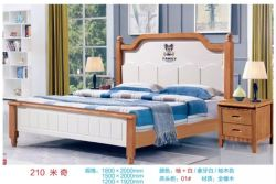 Size Wooden Bed現代単一のMickeyデザイン女王王