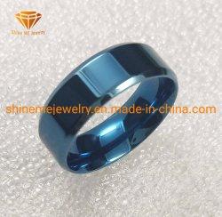Commerce de gros de bijoux de corps bordé de bleu de haute qualité Bague en acier inoxydable SSR1967