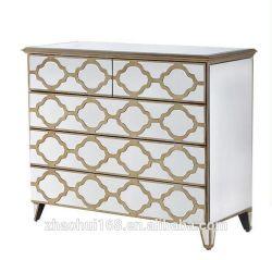 Mobilier moderne en miroir du Cabinet classique de Commode Table console armoire en miroir de rétroviseur