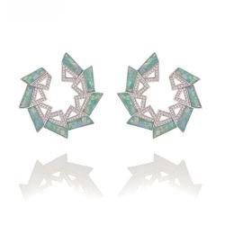 Оптовая торговля новейший дизайн пользовательских Earring медных ручной работы ювелирные украшения серьги