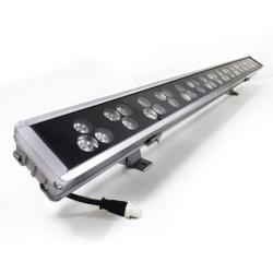高い発電屋外の防水LEDの照明RGB DMX512制御LEDライトバーIP66 18With24With36With48W LEDの壁の洗濯機