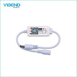 Mini regolatore 6A*1CH dell'indicatore luminoso di striscia del regolatore della luminosità LED di WiFi