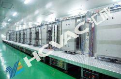Anti-reflexo Ar Película condutora de vidro em linha contínua PVD Revestimento de vácuo da linha de produção